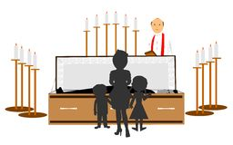 Funeral of family member Royalty Free Stock Image