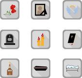 Funeral flat icon Royalty Free Stock Photos