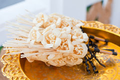 Funeral flower on tray. Thai funeral flower on tray Royalty Free Stock Photography