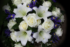 Funeral flowers for condolences Stock Photos