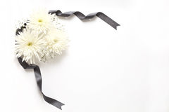 Funeral flowers. I express with white flowers image of funeral Royalty Free Stock Photo