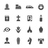Funeral goods icons. Vector Illustration Stock Photos