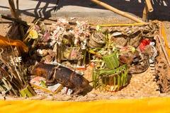 Funeral hindu, Sebuluh, provinz de Nusa Penida Bali, Indonésia imagens de stock