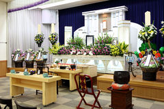 Funeral home. Interior of japanese style Stock Photography