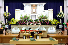 Funeral home. Interior of japanese style Stock Photos