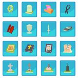 Funeral icon blue app Royalty Free Stock Photos