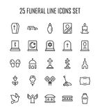 Funeral icon set vector illustration