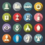 Funeral icon set. Vector illustration.  vector illustration