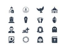 Funeral icons Stock Photography