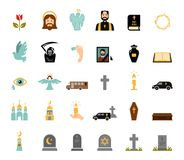 Funeral icons Stock Photo