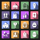 Funeral icons Royalty Free Stock Photography