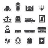 Funeral icons Royalty Free Stock Photos