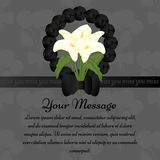 Funeral illustration with candle and calla lily royalty free illustration