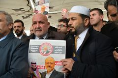 Funeral of Jamal Khashoggi royalty free stock image