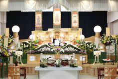 Funeral of Japanese style. Funeral of Japanese traditional style Royalty Free Stock Images