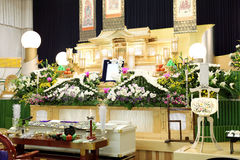 Funeral of Japanese style Royalty Free Stock Photo