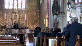 Funeral mass in the church Stock Images