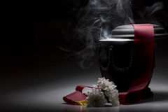 Funeral mourning urn, for obituary Royalty Free Stock Images