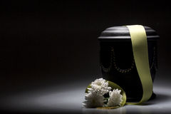 Funeral mourning urn, for obituary Stock Image