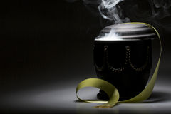 Funeral mourning urn, for obituary Royalty Free Stock Image