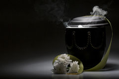 Funeral mourning urn, for obituary Stock Photos