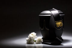 Funeral mourning urn, for obituary Royalty Free Stock Photography