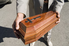Funeral of the pet Royalty Free Stock Images