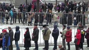 Funeral politician Boris Nemtsov, who was killed at the Kremlin stock video footage