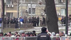 Funeral politician Boris Nemtsov, who was killed at the Kremlin stock footage
