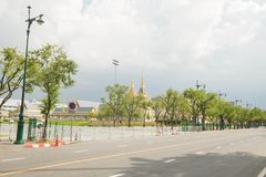 Funeral pyre. The funeral pyre of the king on the Sanam Luang royalty free stock photo