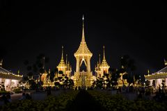 Funeral pyre. The funeral pyre of the king on the Sanam Luang royalty free stock photography