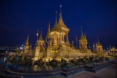 Funeral pyre. The funeral pyre of the king on the Sanam Luang royalty free stock photos