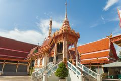 Funeral pyre in temple. Of ayutthaya Thailand stock photography
