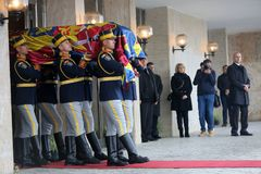 Funeral of Romania`s King Michael Stock Image