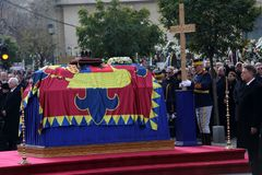 Funeral of Romania`s King Michael Stock Images