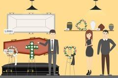 Funeral service bureau. vector illustration