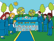 Funeral Service Event vector illustration