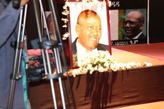 Funeral service of Former Ethiopian President Dr. Negasso Gidada. Funeral of Former Ethiopian President Dr. Negasso Gidada that was attended by thousands of royalty free stock photography