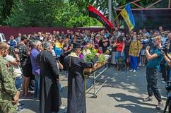 Funeral service of warrior Stock Photos
