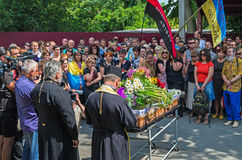 Funeral service of warrior Royalty Free Stock Images