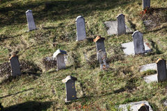 Funeral stones. Color shot of some funeral stones in a cemetery Stock Photography