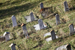 Funeral stones. Color shot of some funeral stones in a cemetery Stock Images
