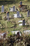Funeral stones. Color shot of some funeral stones in a cemetery Royalty Free Stock Images