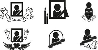 Funeral symbols stock illustration