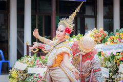Funeral tailandês da dança Imagem de Stock