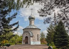 The funeral Temple - a chapel. In the Smolensk region Russia Stock Photography