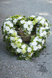 Funeral white wreath Royalty Free Stock Image