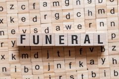 Funeral word concept stock photos