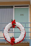 Funeral wreath at the balcony Stock Photography