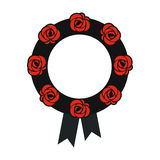 Funeral wreath icon Stock Images